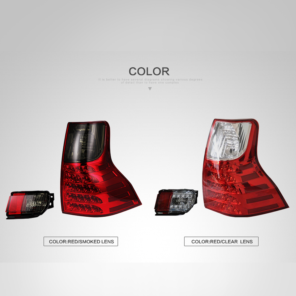 LSlight LED Tail Light Assembly FOR Toyota Prado FJ150 2011 2012 2013 2014 2015 2016 2017 2018 Stop Turn Signals Car Accessories in Car Light Assembly from Automobiles Motorcycles