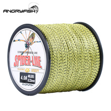 Angryfish 4 Strands 300M/500M PE Braided Fishing Line Camouflag Multifilament 10-60LB for Freshwater Seawater