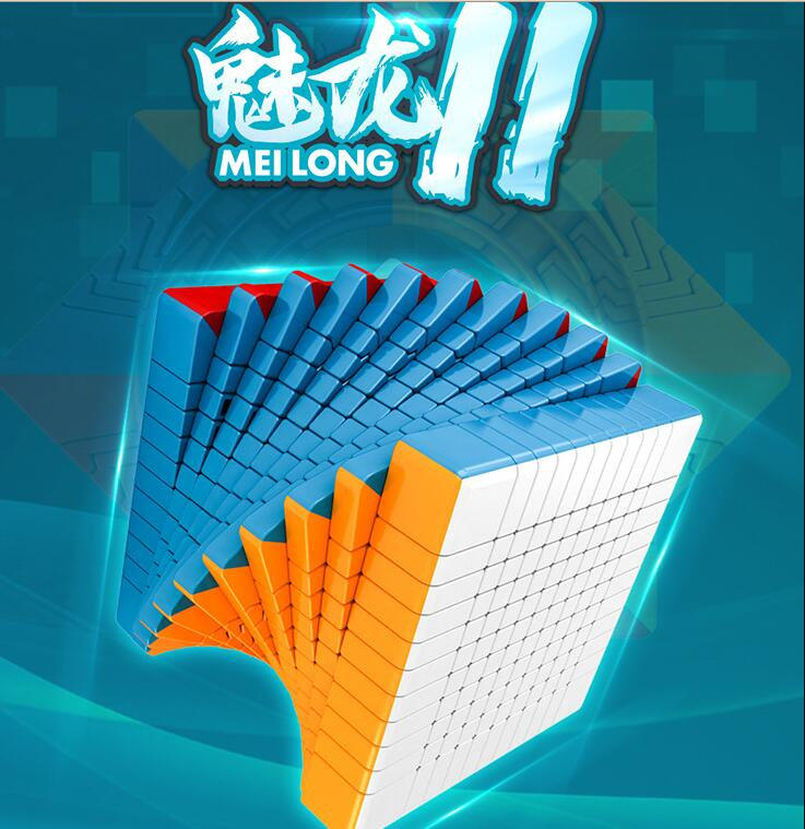 Mofangjiaoshi Meilong 11x11 cubo Magico Puzzle Cube Twist Puzzle Educational Toy