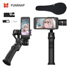 Funsnap التقاط 3 محور يده مثبت أفقي للهواتف الذكية GoPro 6 SJcam XiaoYi 4k كاميرا لا DJI OSMO 2 ZHIYUN FEIYUTECH