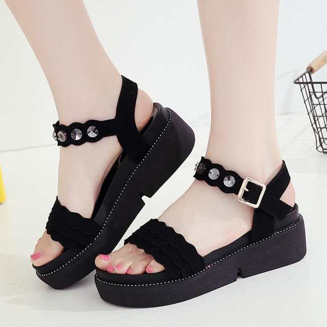0c9fa7d5ccc3 2018 Shoes Women Sandals Gladiator Shoes Woman High Heel Ladies Sandals  With Heels Flat Platform Sandal sandalias mujer-in Women's Sandals from  Shoes on ...