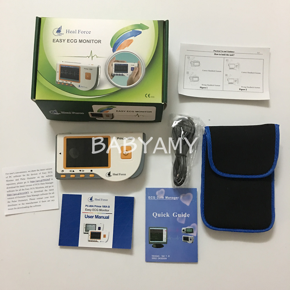CE FDA Approved Handheld ECG Monitor Mini Portable Color Screen Electrocardiogram Heart Monitor Monitoring Health Care