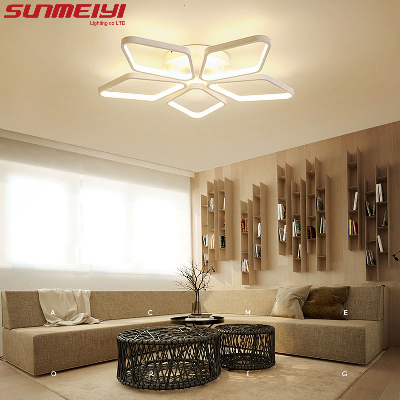 Modern Led Ceiling Lights For Indoor Lighting plafon led Square Ceiling Lamp Fixture For Living Room Bedroom Lamparas De Techo macaron ultra thin modern led ceiling lights pink yellow green body ceiling lamp for living room bedroom lamparas de techo