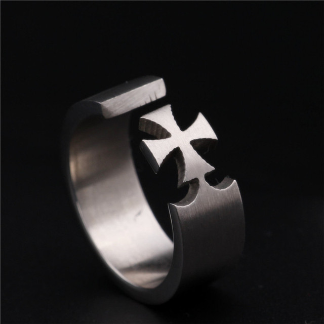 Cross Titanium Steel Rings1