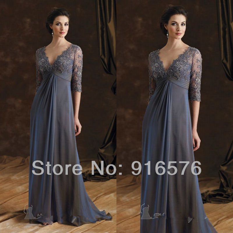 Unusual Mother Of The Bride Dresses: Elegant Mother Of The Bride Dresses V Neck Unique Three