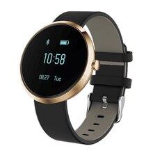 Высокое качество артериального давления трекер v6 smartband женщины здоровья смарт-группы сердечного ритма фитнес-трекер браслет smart watch