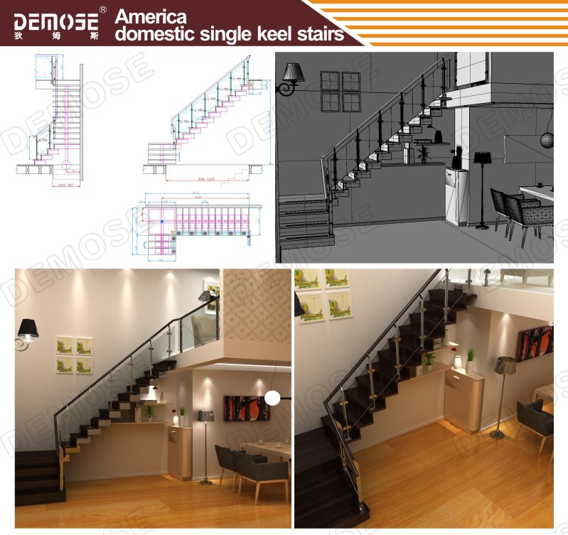 Prefabricated Stairs Solid Wood Stairs For Modern Home Stair Post   Prefab Outdoor Wood Stairs   Closed Stringer   Concrete   Stair Handrail Outdoor   Commercial   Prefab Metal