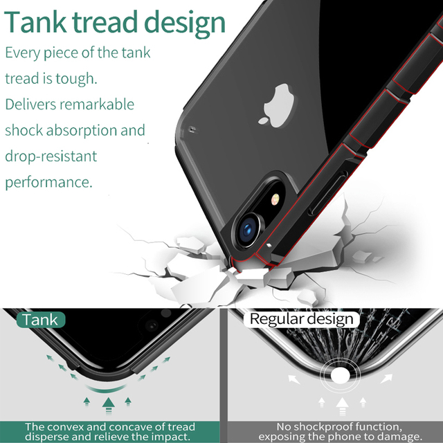 Baseus iPhone XR Luxury Silicone PC Hybrid Shockproof Protective Back Case Cover