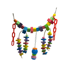 1 Pcs Parrot Bird Toys Colorful Bites Climb Chew Toy Hanging Parakeet Swing Cage Chewing Accessories