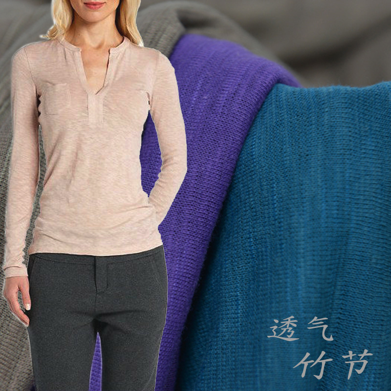 20s Cotton Polyester Fabric For T Shirt Pullover 50 155cm