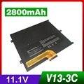 11.1 v 2800 mah nova bateria do portátil para dell vostro v13 v130 v1300 v13z, fit número da peça: 0449TX 0NTG4J 0PRW6G PRW6G T1G6P