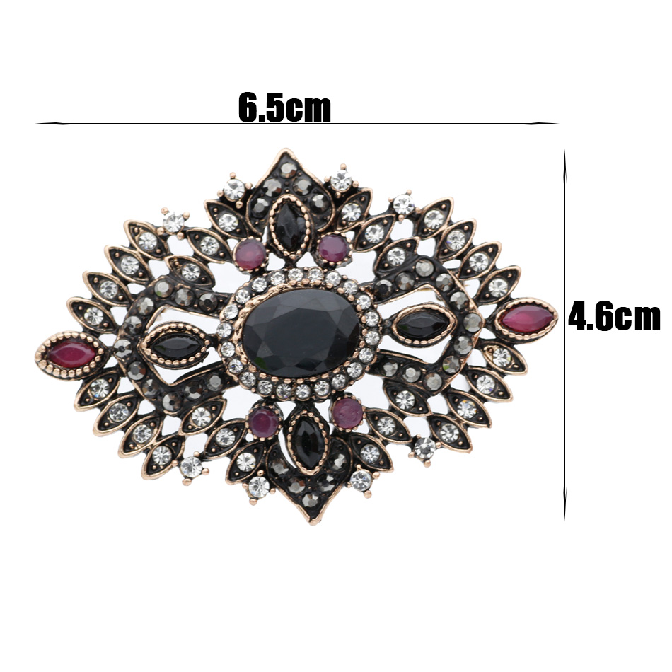Gorgeous Royal Women Hollow Flower Resin Vintage Brooch Corsage Antique  Gold Color Turkish Indian Brooches Rhinestone Jewelry-in Brooches from  Jewelry ... 9e6e1696974e