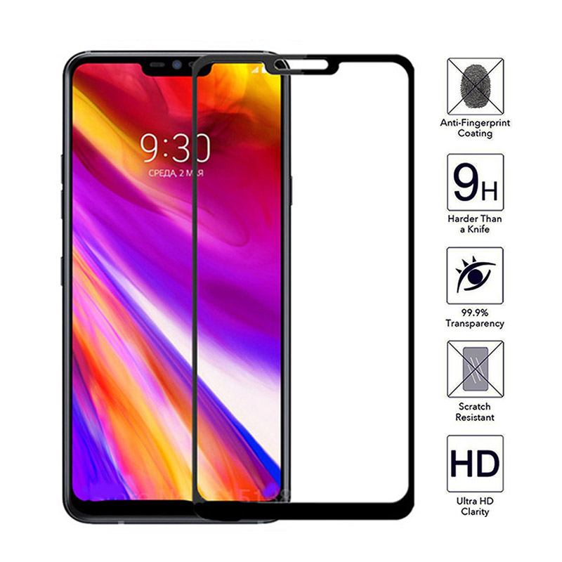 Protective <font><b>Glass</b></font> On For <font><b>LG</b></font> G7 thinQ Full Cover On For <font><b>LG</b></font> <font><b>G6</b></font> G8 <font><b>Screen</b></font> <font><b>Protector</b></font> Tempered <font><b>Glass</b></font> Film sceen sreen glas g 6 7 8 9H image