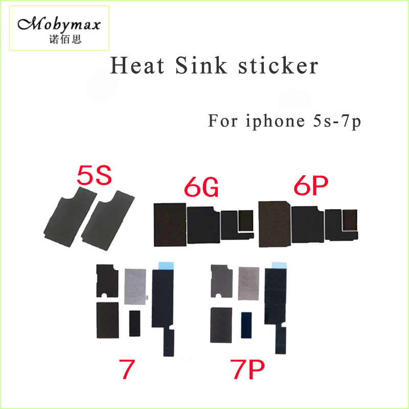 Mobymax 1set motherboard Anti-static Sticker Heat Sink sticker for iPhone 5s 6 6S 7 plus Logic board heat dissipation cooling