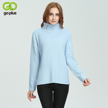 Фотография GOPLUS New Ribbed Turtleneck Sweater For Women Pullover 2017 Autumn Winter Warm Jumper Basic Knitted Tops C4278