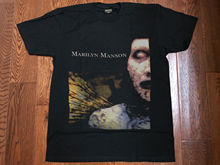 Vintage Marilyn Manson T Shirt Black Anarchist Superstar Reprint