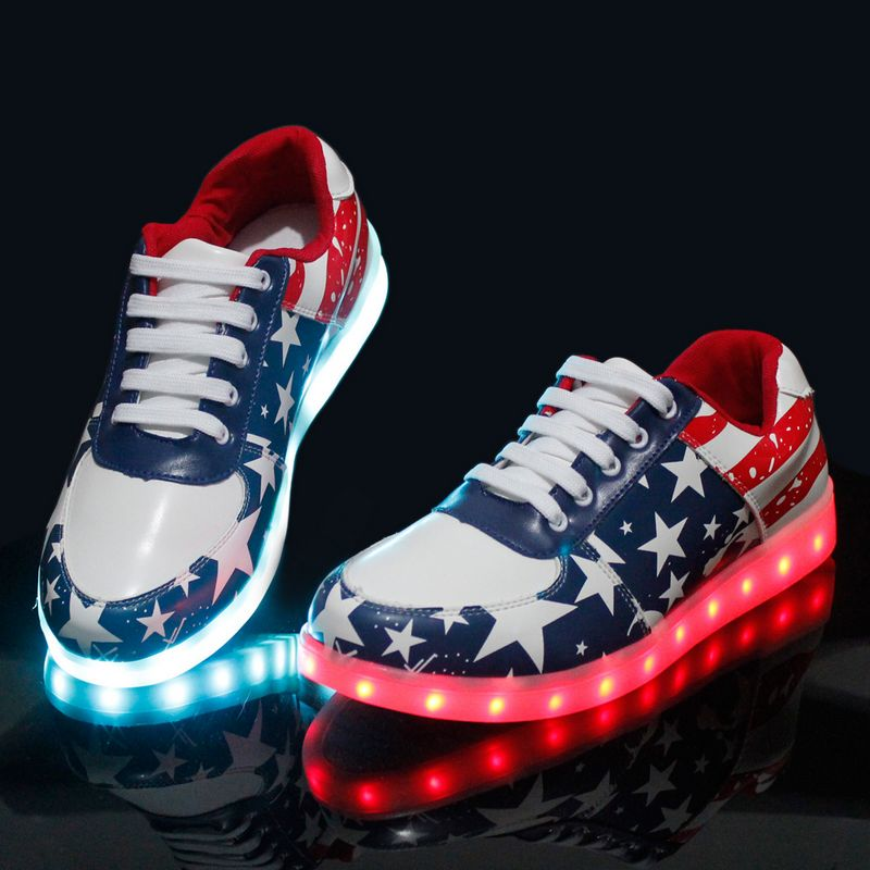 JawayKids Led Shoe Students Unisex Spring&Summer Luminous Sneakers Kid Usb Charge Colorful Boy Girl Glowing Sneakers