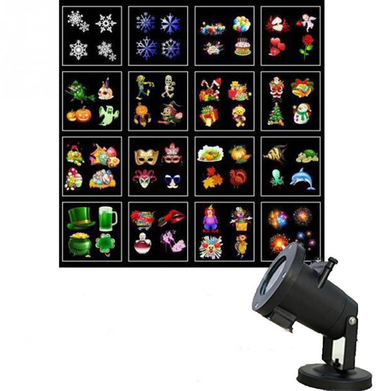 US/UK/AU/EU Plug Christmas Outdoor Waterproof 16 Films LED Projection Light with Remote Control for happy new year Valentine day reap mickey acrylic t shape desk sign holder card display stand table menu service label office club business restaurant