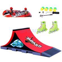 1 пара пальчиковых роликовых коньков с мини скейтбордом и рампой аксессуары набор игрушек