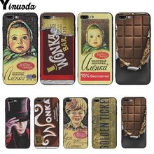 Yinuoda alenka bar wonka chocolate Cover cases For iphone 6s plus rubber phone case For iphone 6s 7 7plus 8 8plus XS X XR XSMAX(China)
