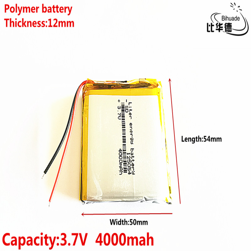 3.7V 4000mAh <font><b>125054</b></font> lithium polymer MP3 MP4 navigation instruments small toys image