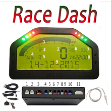 Dash Race Display DO904 Full Sensor Kit Dashboard LCD Screen Rally Gauge With Bluetooth Function Waterproof 9000rpm Rally Gauge