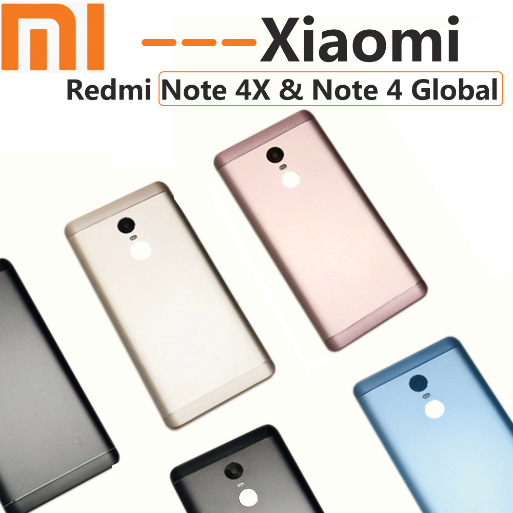 OEM Xiaomi Redmi Note 4X Battery Cover Rear Door Back Housing Xiaomi Note 4 Global + Volume Power Buttons Replacement +tools