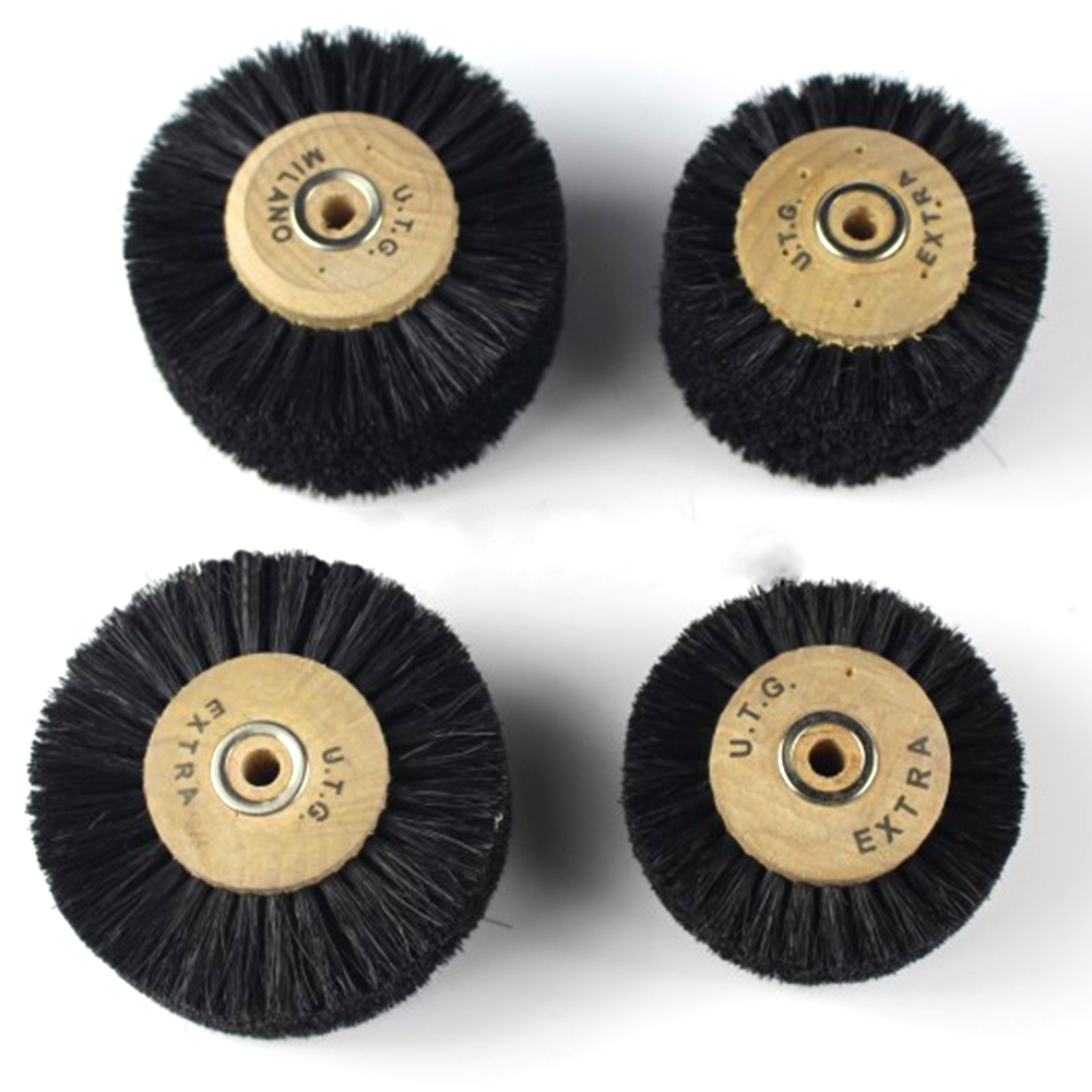 1PCS Abrasive Black Bristle Brush Buffing Wheel Brush For Polishing Tool Accessories Engraver Cleaning Tools 65-78MM