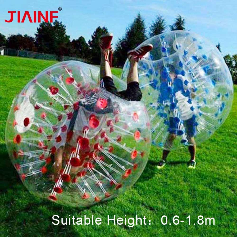 1.2m/1.5m/1.8m Air Bubble Soccer Zorb Ball 0.8mm PVC Air Bumper Ball Adult Inflatable Bubble Football,Zorb Ball