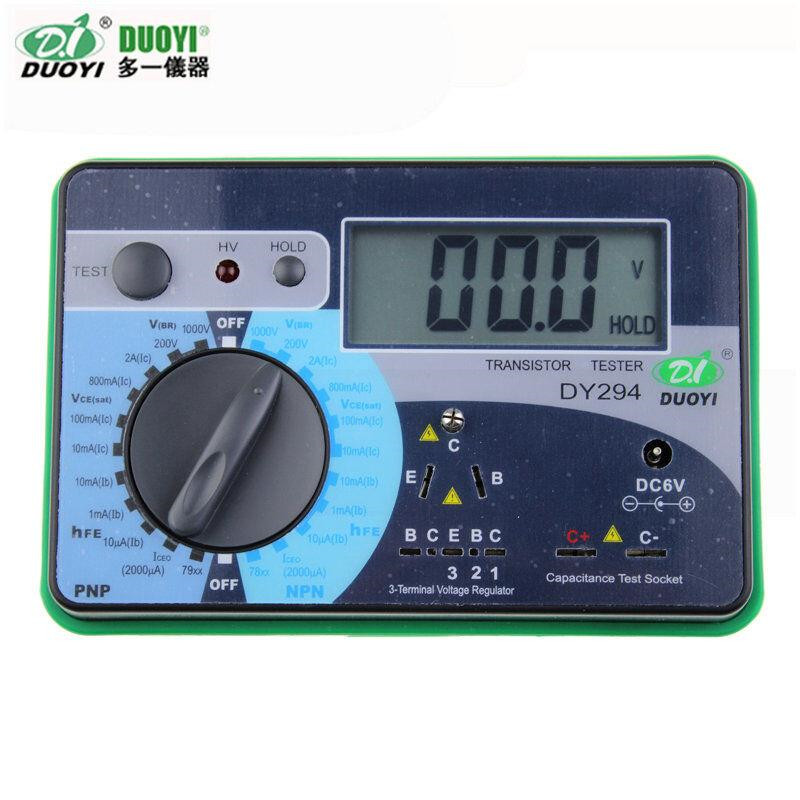 1pc DUOYI DY294 Digital Transistor DC parameter tester Transistor Semiconductor Parameter Tester Meter dy294 lcd display digital transistor dc parameter tester semiconductor tester semiconductor testers meter 1pcs