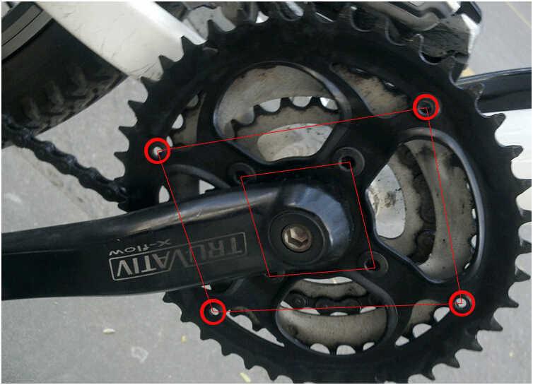 36T/40T/42T/44T/46T/48T/52T conjunto de bielas de bicicleta de montaña cubierta protectora soporte tapa plato de bicicleta manivela cadena rueda guardia CZP001