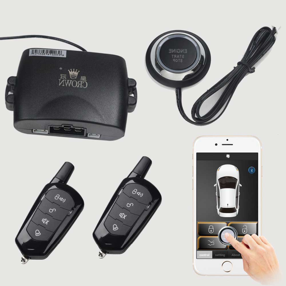 Smart-phone-remote-start-car-one-key-start-anti-theft-system-with-vibration-alarm-function-of