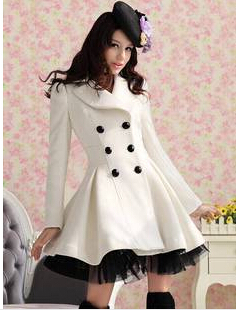 Popular Long Winter White Coat-Buy Cheap Long Winter White Coat ...