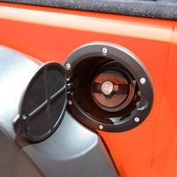 DWCX Car Black Fuel Filler Cover Gas Tank Cap For Jeep Wrangler JK Rubicon Sahara Unlimited