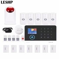 SOS Remote Control Voice Prompt Wireless door sensor Home Security GSM Alarm system LCD Display Wireless Siren Kit SIM SMS Alarm