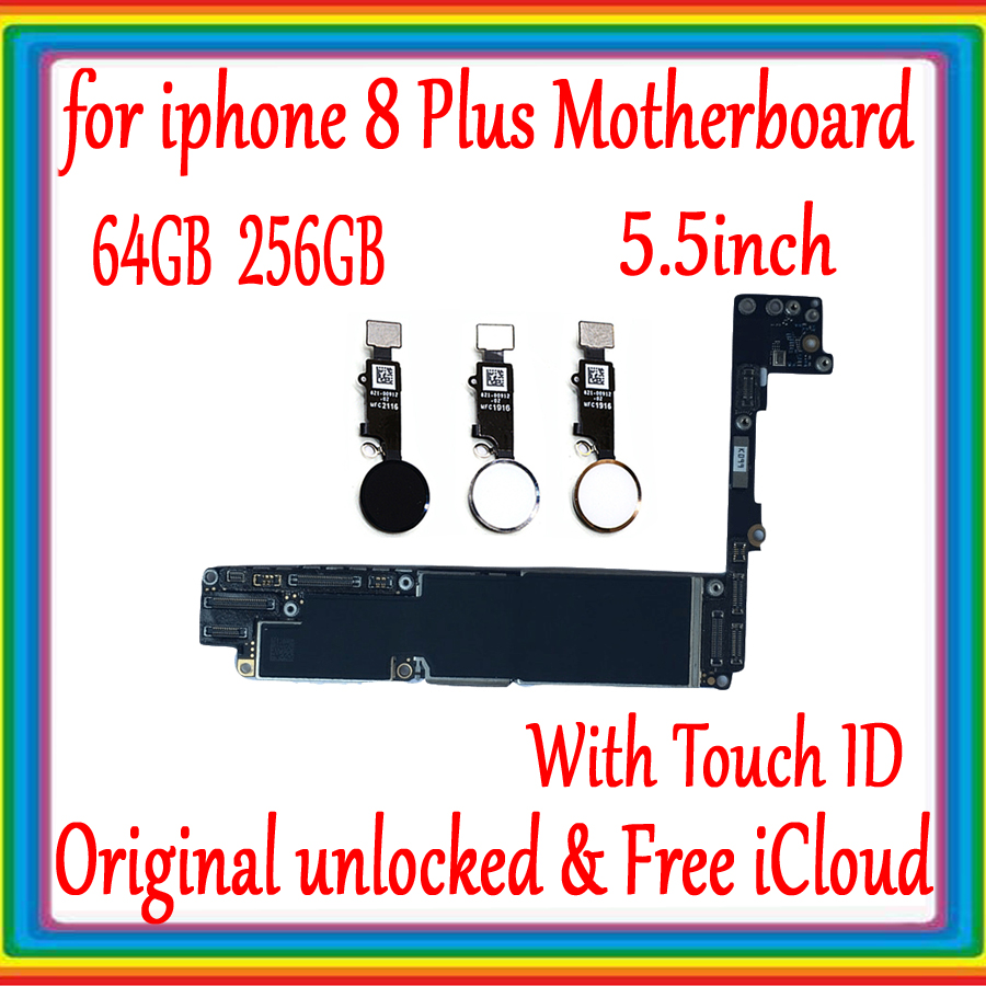 64GB 256GB for iphone 8 Plus 5 5inch font b Motherboard b font with without Touch