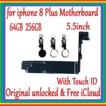 64 Гб 256 ГБ для iphone 8 Plus 5,5 дюймов материнская плата с/без Touch ID, Оригинал разблокирован для iphone 8 Plus материнская плата, Бесплатный iCloud