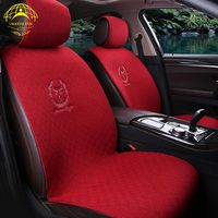 OKAYDA Front 2 Pc Car Seat Cover 7 Colors Populor Design Universal Warm Flax Fabrics Car