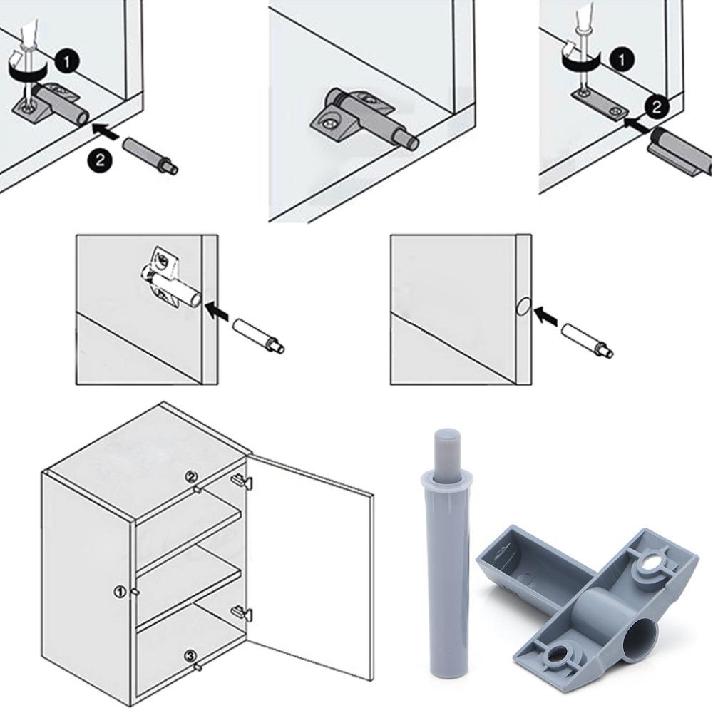 10x Closer Damper Buffer Kitchen Cabinet Door Drawer Quiet Cabinet Hinges /&Screw