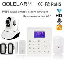 QOLELARM Español Polaco menú Inglés sms gprs WiFi gsm casa sistemas de alarma de control remoto APP 720 P Onvif cámara ip wi-fi HD