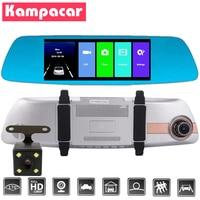 Kampacar 7 Touch Mirror Video Recorders Automotive The Registrar Car Dvr Dash Cam Rear View Camera Dashcam With Two Cameras