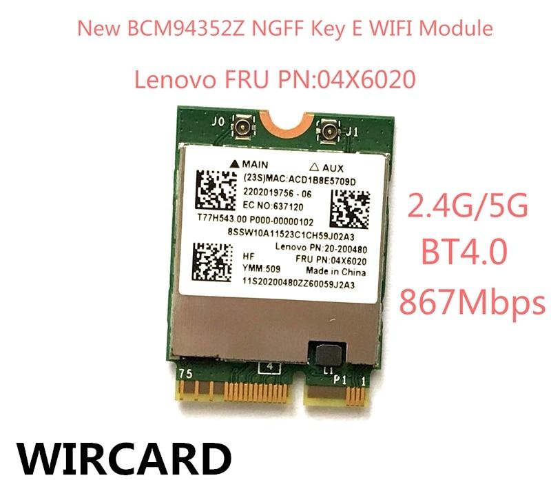Wircard Новый bcm94352z WLAN Bluetooth 4.0 сетевая карта 867 Мбит FRU 04X6020 WiFi адаптер для Lenovo ноутбука Y50 y40 Y70 B50 YOGA 3