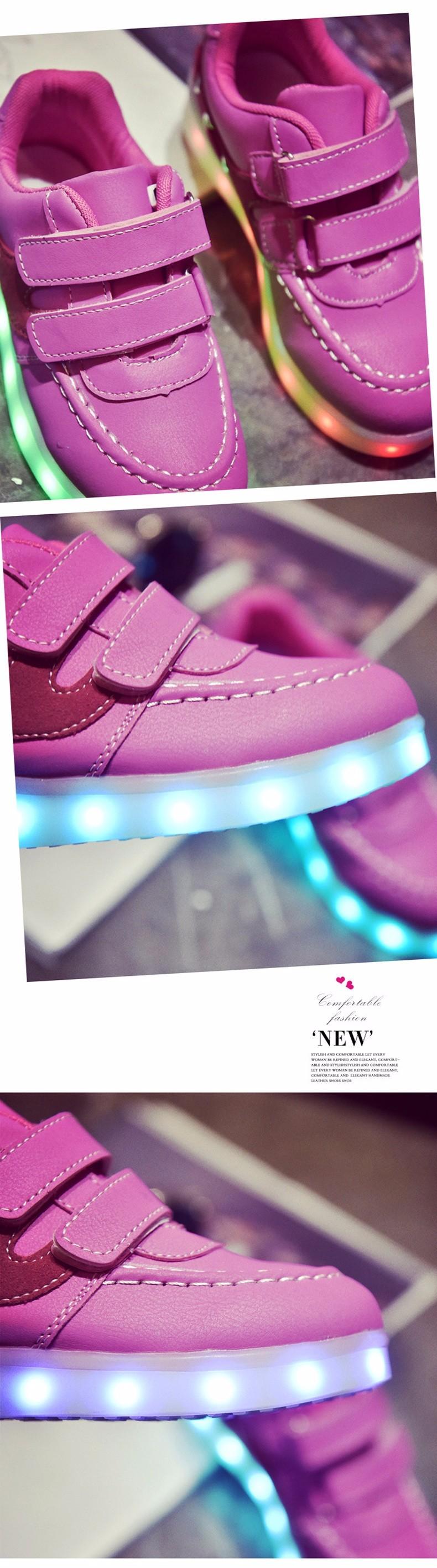 Kid USB Charging LED Light Shoes Soft Net Casual Boy Girl Luminous Sneakers Antiskid Bottom Children Shoes Tenis Led Infantil (9)