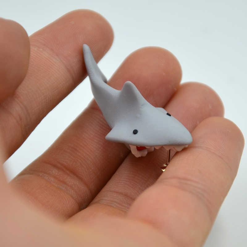 0e9e41c3a ... Handmade Polymer Clay Shark Crocodile Cat Piranha Stud Earrings For  Women Fashion Animal brincos Piercing Earrings ...