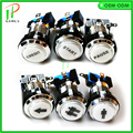 Chrome plated silver 1&2 player /start/ pause/ Credit Illuminated Led Push Button/arcade machine parts/Coin operator cabinet