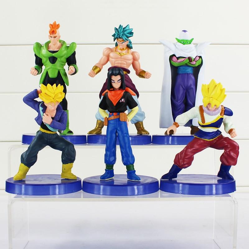 6pcs/set Dragon Ball Z Figures Dolls Super Saiyan Figure Chidren Toy Christmas Gift 9~12cm
