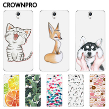 CROWNPRO Luxury Silicone Case For Lenovo Vibe S1 Case Cover Soft TPU Print Back Cover For Lenovo S1 S 1 Mobile Phone Cases