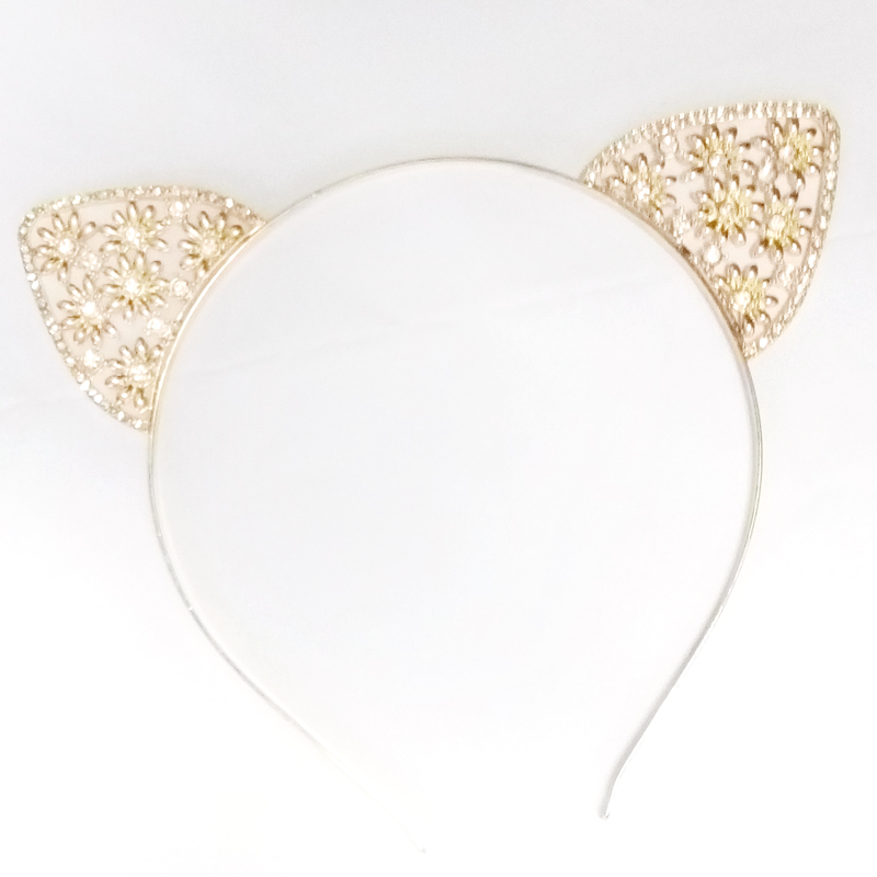 cd341f198 Fashion Flower Crown Golden Metal Girls Crystal Cat Ear Headband-in Hair  Jewelry from Jewelry & Accessories on Aliexpress.com | Alibaba Group