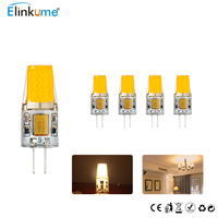 ELinkume 5pcs 10pcs G4 LED Bulb SMD1588 1LED Corn Bulb AC DC 12V LED Spotlight Warm