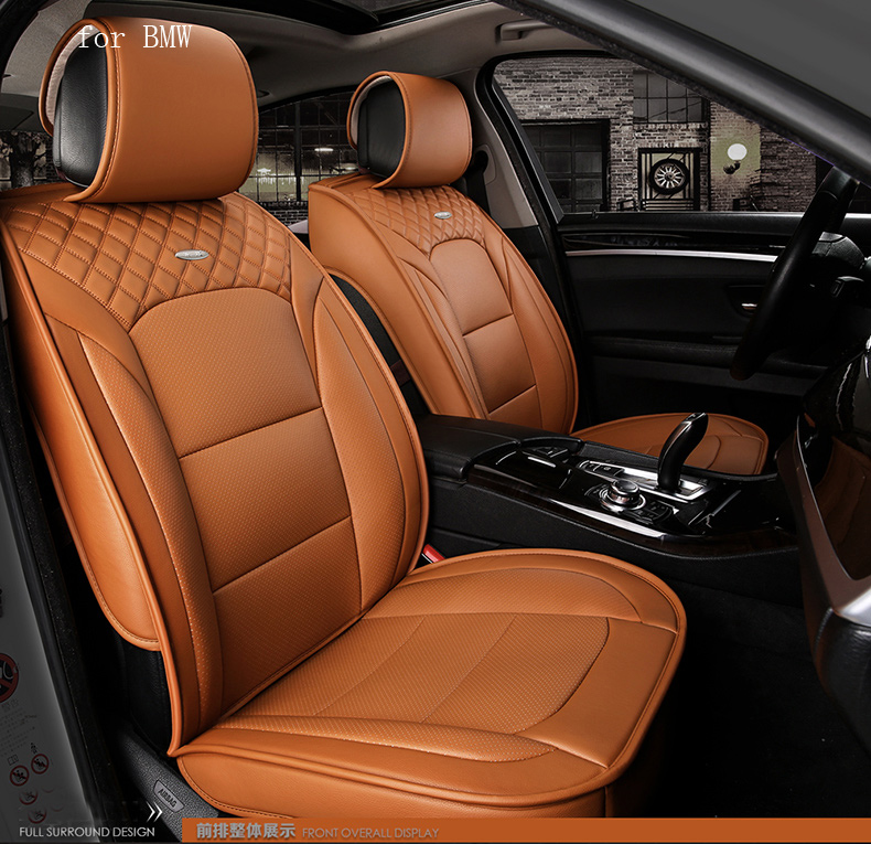waterproof pu leather car seat cover for BMW E46 E39 E90 E60 BMW F30 F10 X5 front rear full universal car back seat covers leather car seat cover for bmw e30 e34 e36 e39 e46 e60 e90 f10 f30 x3 x5 x6 car accessories car styling